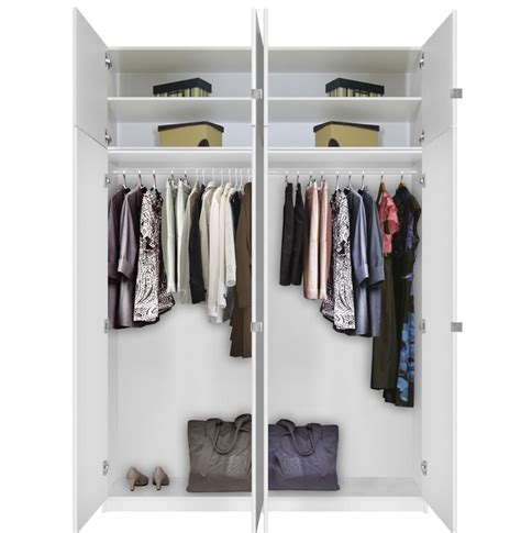 Free Standing Wardrobe by Alta Free Standing Closet 8 Door Taller Package