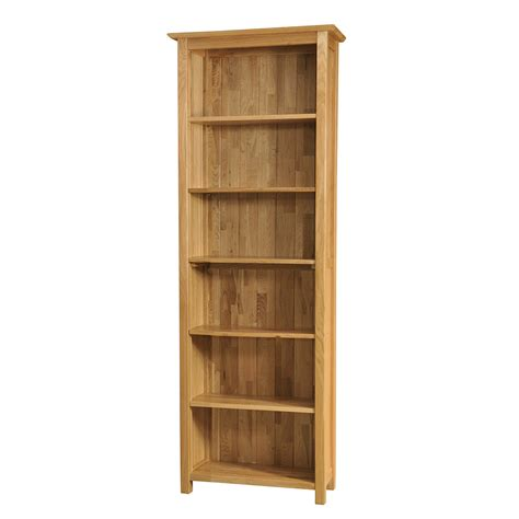 Narrow Oak Bookcase Sherwood Oak Narrow Bookcase Height 3ft 6ft Realwoods