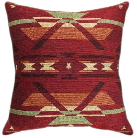 Southwestern Throw Pillows For pair of southwestern geometric print tapestry throw