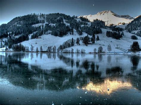 frozen mountain wallpaper frozen lake frozen mountain lake nature winter hd