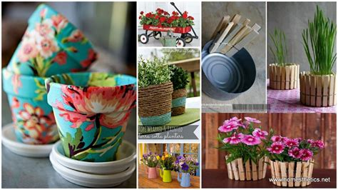 homemade flower pots ideas creative diy herbs flower pots for your home