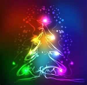 abstract neon christmas tree vector graphic bing gallery