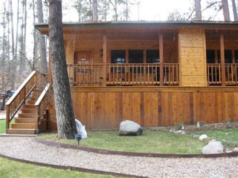 Ruidoso Lodge Cabins by Cabin 26 Note The Tree Growing Through The Deck Picture