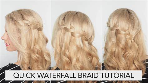 youtube tutorial waterfall braid the waterfall braid hair tutorial youtube quick waterfall