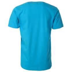 mens light blue t shirt with orange printed slogan