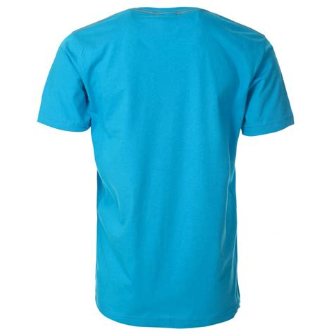 light blue t shirt mens light blue t shirt with orange printed slogan