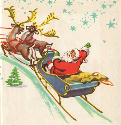 free christmas cards santa claus cards leaping frog designs free vintage clip art christmas post