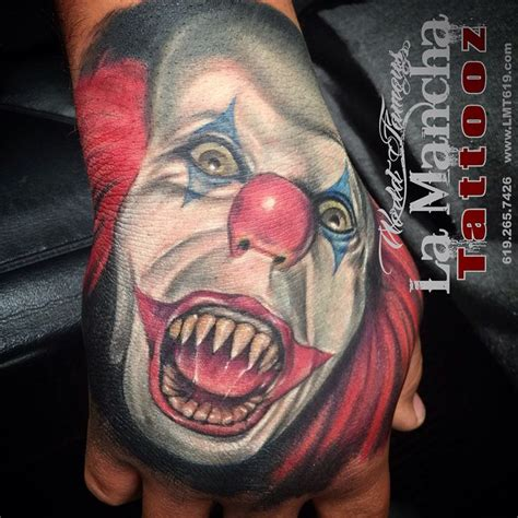 la mancha tattoo tim curry as pennywise by sandoval at la