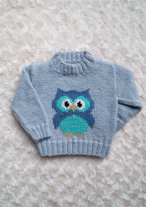 owl pattern jumper intarsia little owl chart childrens sweater knitting