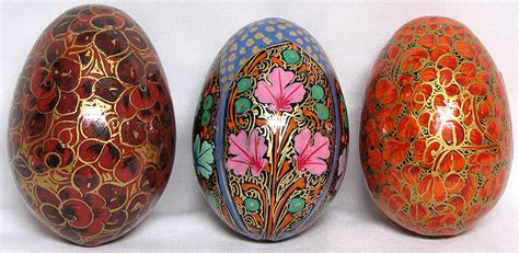 Decorative Eggs by Decorative Eggs From Kashmir Set Of 3