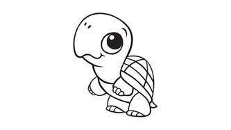 learning friends turtle coloring printable