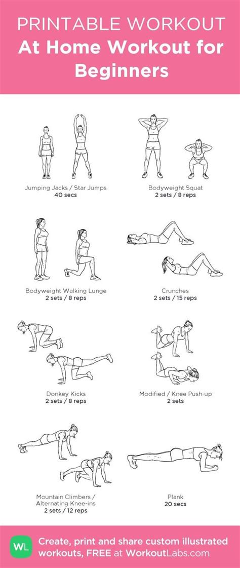 at home workout for beginners to the