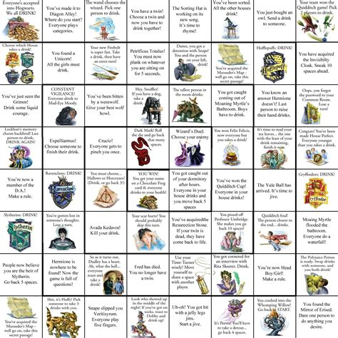 harry potter printable board games harry potter drinking game harry potter stuff
