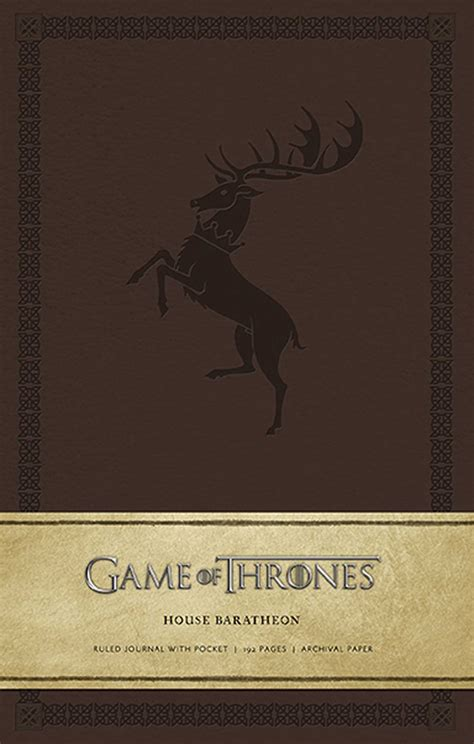 What Of Thrones House Am I by Of Thrones House Baratheon Hardcover Ruled Journal