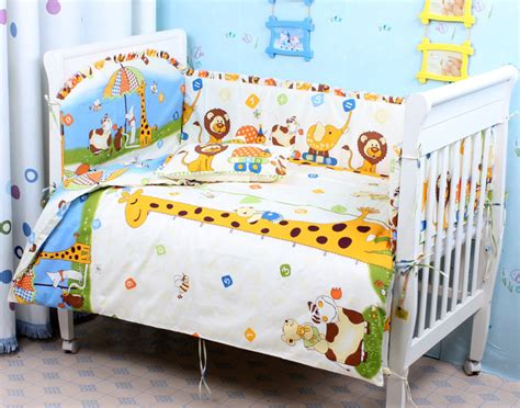 Breathable Baby Crib Bumper by 7 Pcs Sets Baby Bedding Bumper Breathable Crib Liner Cotton Curtain Crib Bumper Baby Cot