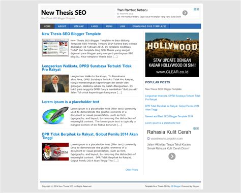 templates seo blogger new thesis seo blogger template nulled clone script