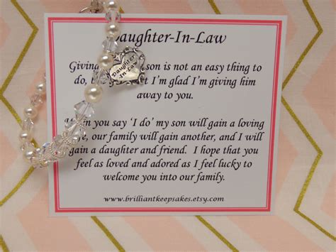 in laws future daughter in law wedding gift bracelet by