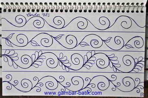 desain batik mudah contoh gambar motif batik sederhana contoh 36