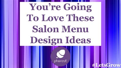 Are Going To Love These Amazing Ideas For A Wacky Hair Day At School | you re going to love these salon menu design ideas