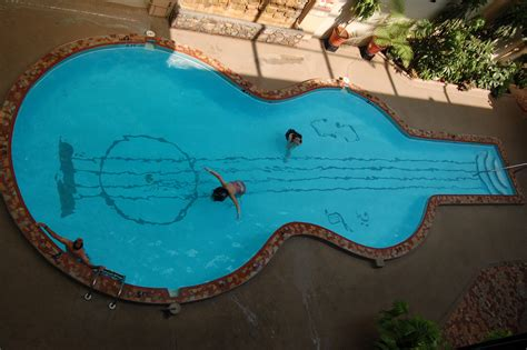 Design For Coolest Pools Decors 187 Archive 187 Stylish Guitar Shaped