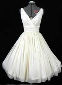wedding dresses 50s style gown tea length wedding dress