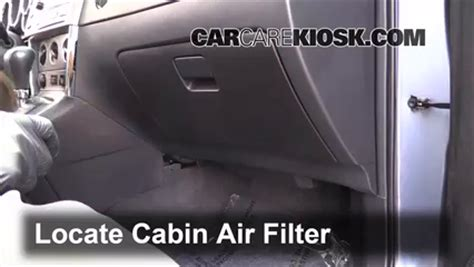 Toyota Matrix Cabin Air Filter by Cabin Filter Replacement Toyota Matrix 2003 2008 2008