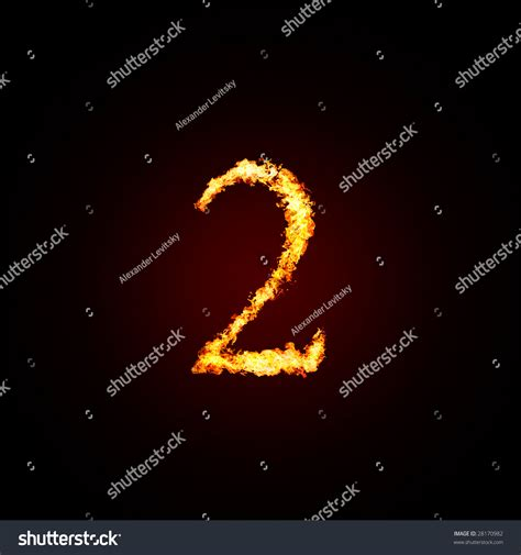 Fiery Numbers Stock Photos Images Magical Fiery Number 2 Stock Photo 28170982