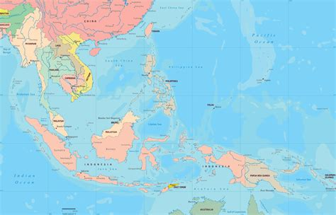 south asia and southeast asia map philippines to south korea map