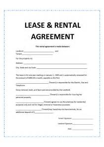 Basic Residential Lease Agreement Template Doc 620785 Lease Agreement Create A Free Rental
