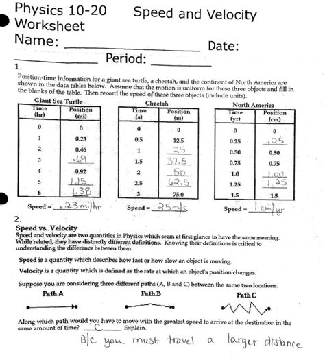 section 11 2 speed and velocity worksheet answers 100 speed and velocity problems worksheet answers