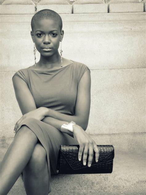 beautiful black women bald haircuts bald and super short haircut photos vissa studios