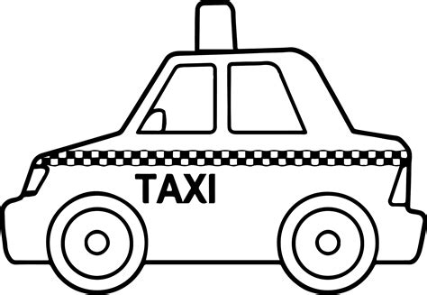 taxi car coloring page basic taxi toy car coloring page wecoloringpage