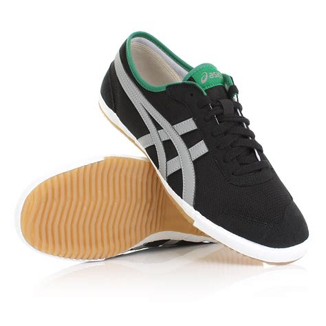 Sepatu Casual Sport Pria Asics Onitsuka Black Grey 1 mens asics retro rocket black grey stripe casual sports trainers shoes size 6 12 ebay