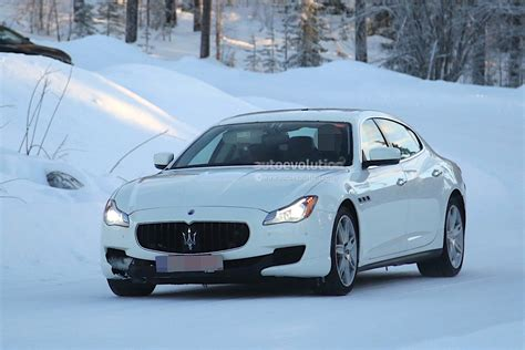 maserati 2017 quattroporte 2017 maserati quattroporte facelift spied with