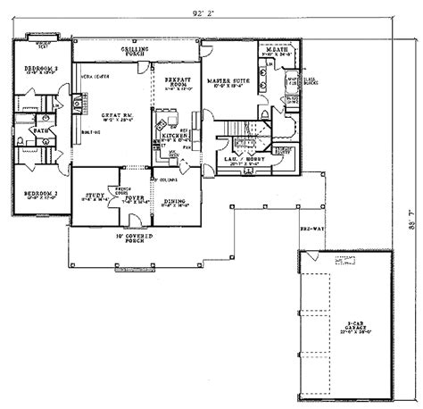 southern style floor plans southern style house plan 5 beds 3 baths 4131 sq ft plan