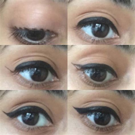 tutorial on eyeliner application how to apply winged eyeliner with pencil diy makeup ideas