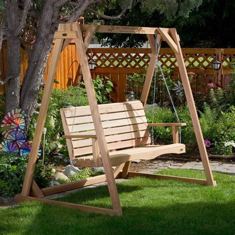 outdoor swing plans build your own porch swing stand woodworking projects