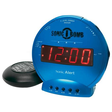 sonic alert sbb500ss dual alarm clock with bed shaker in turquoise harris communications