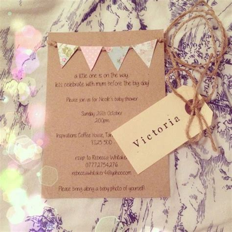Shabby Chic Baby Shower Invites by Best 25 Baby Shower Bunting Ideas On Baby Boy