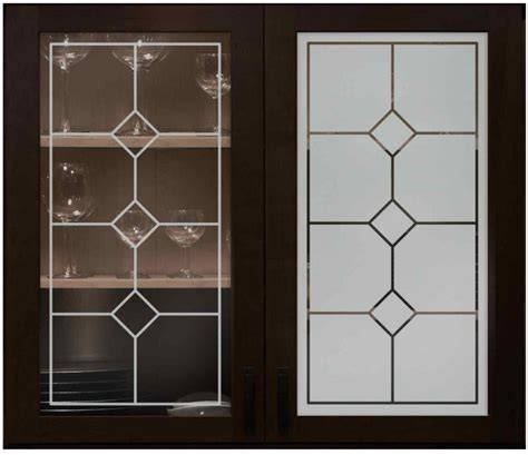 kitchen glass design cabinet glass with frosted designs sans soucie art glass
