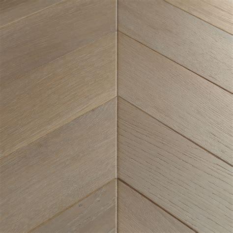 Hazy Hardwood Floors by Goodrich Oak Chevron Flooring Woodpecker Flooring