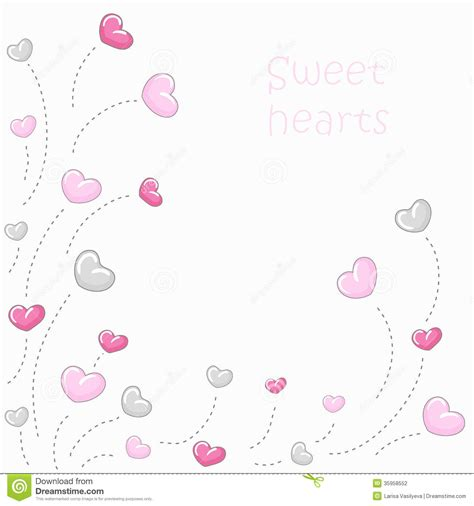 valentine background with two stylish cute hearts background 2 stock vector image of greeting
