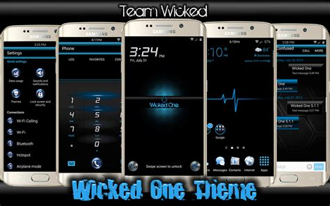 theme samsung s6 edge free theme wicked one se theme for s6 s6 edge samsung