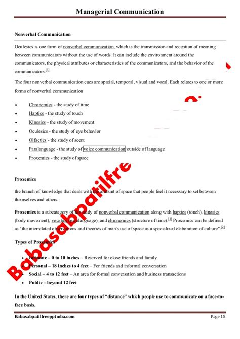 Managerial Communication Notes For Mba by Notes Managerial Communication Mod 2 Basic Communication