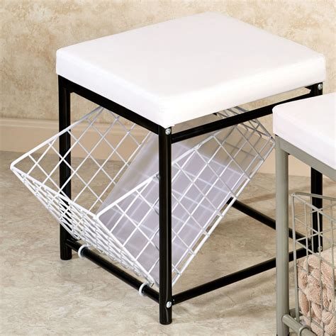 vanity bench with storage urban modern storage vanity stool