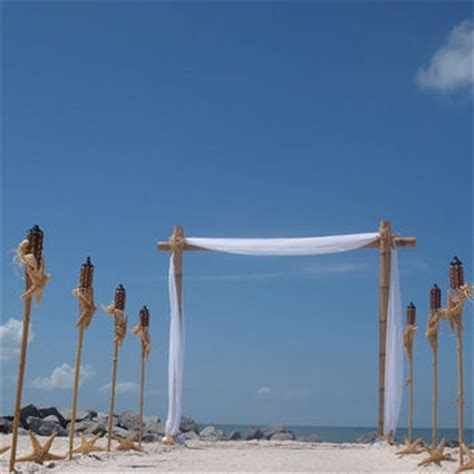 Bamboo Wedding Arch Kit by Bamboo Wedding Arch And Starfish From