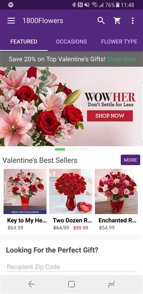 Best Android apps for Valentine's Day | Android Central 1 800 Flowers Review Yelp