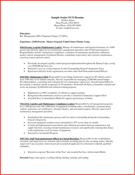 yeoman resume cover letter exles grants administrative assistant enlisted management resume