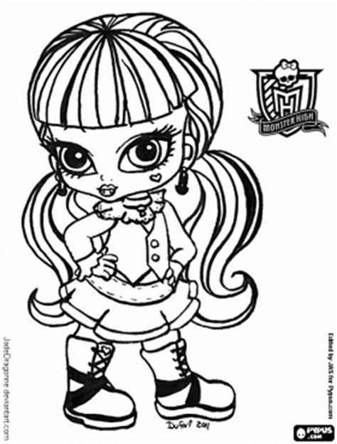 monster high coloring pages baby draculaura baby monster high to print to colour color in printouts