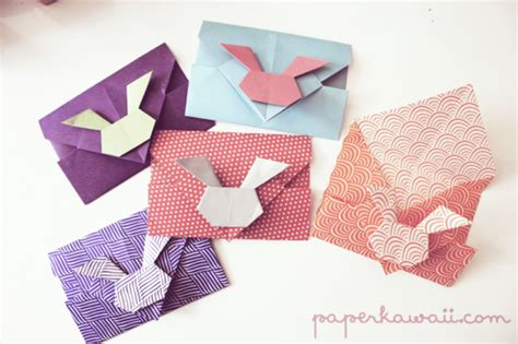 Origami Bunny Envelope - origami maniacs march 2014